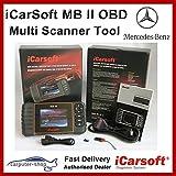 iCarsoft MB II Mercedes-Benz - Herramienta de escáner de diagnóstico (SRS, freno ABS, motor, reseteo, EBP, SAS, DPF)