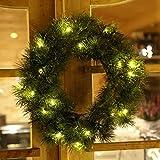 Gartenpirat Künstlicher Türkranz 25 LED Beleuchtet Weihnachten Weihnachtskranz