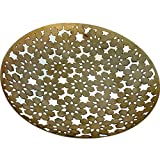 #7: Handcrafted Decor Tray (Brass Finish) I Handmade Decorative Trays & Plates For Pooja, Wdding, Home & Office Decor I 9*0.8 DH (Inches)