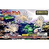 Comparador de precios Puzzled Lion Fish 3 In 1 3D Natural Wood Puzzle by Puzzled - precios baratos