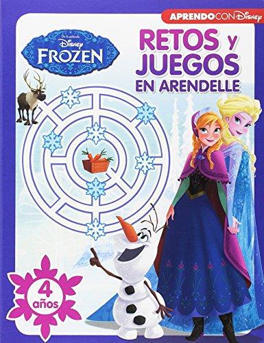 Retos y juegos en Arendelle. 4 años (Retos y Juegos Disney) (Frozen) por Disney