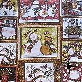 Xiaoludian 155g Mezzo Metro Largo 1.35m Pupazzo di Neve in Tessuto di Cotone Twill di Natale con Grande Commercio Estero di Cotone