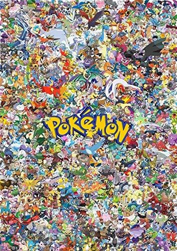 Pokemon todos los personajes Montage Póster (A1(841x 594))