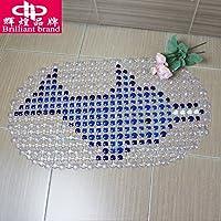 Dolphin colori bagno antiscivolo Mat Choi-chu luce morbida PVC tappetini con ventosa , jacuzzi cuore Beas dolphin duck ,36*68 miscelatore