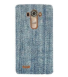 EPICCASE Blue stiches Mobile Back Case Cover For LG G4 (Designer Case)