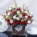 Künstliche Blumen Simulation Blume Blumen Wohnzimmer Dekoration Dekoration Dekoration Wohnungseinrichtung Stroh Topf Flower Set , - 034