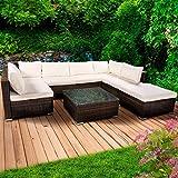 Poly Rattan Lounge Set Sunshine Braun Gartenmöbel Sitzgruppe Garten Garnitur Essgruppe Tisch Sessel Sofa