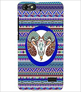 PrintDhaba Zodiac Aries D-3498 Back Case Cover for HUAWEI HONOR 4C (Multi-Coloured)