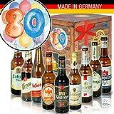 Bier-Box zum 80. mit Bier aus Ostdeutschland