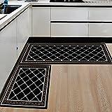 Zlywj Tapis de Cuisine géométrique Moderne Tapis de Salle de Bains antidérapant Entrée de la Maison/Couloir Tapis de Porte Armoire/Tapis Tapis Creative Carpets 50X80Cm 17