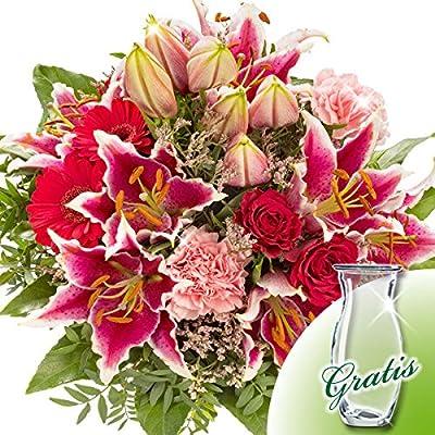 Blumenstrauß Karat mit Vase von FloraPrima - Du und dein Garten