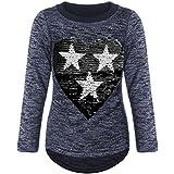 BEZLIT Mädchen Pullover Pulli Wende-Pailletten Sweatshirt 21517, Farbe:Blau, Größe:164