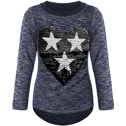 emoji t shirt wendepailletten BEZLIT Mädchen Pullover Pulli Wende-Pailletten Sweatshirt 21517 Blau Größe 164