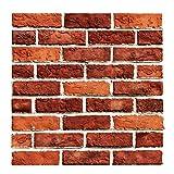 HKFV 3D Ziegelstein Tapete 30 X 30 X 0.4cm Brick Pattern Wallpaper,Wandaufkleber,Fototapete ,Wandtapete ,Abnehmbare Selbstklebend Imitation Ziegel Tapete, Dekor für Wohnzimmer, Schlafzimmer, Kinderzimmer, Badezimmer oder Küche. (J)