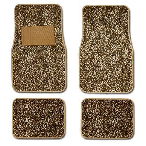 Cheetah Racing Bodies Cheetah Animal Print Auto Floor Mat 4PCS by -