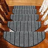 BBYE Massivholz Selbstklebende Treppenstufen Tretauflagen Haushalt Extra Dick Anti-Rutsch-Teppich Matten (Farbe : 1 Piece, größe : A-65 * 24cm)