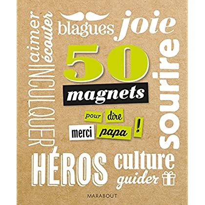 50 magnets pour dire merci papa !