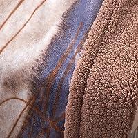bduk flanella emulazione lana d' agnello velluto composito e spessore singolo coperta coperta matrimoniale Autunno Inverno casa coperte