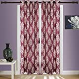 SWHF Printed Curtains, Set of 2: Floral ...