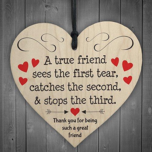 """Red Ocean Herzschild mit Aufdruck """"Thank You For Being A Great Friend"""", zum Aufhängen Freundschaft Geschenk"""