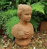 Unbekannt Garten BÜSTE Statue Frau Figur RÖMISCH GRIECHISCH ANTIK LANDHAUSSTIL TERRAKOTTA DR-1105