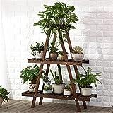 WYDM 3-Schicht Blumenständer Pflanzenständer aus Holz Vertikale Blumenständer Eckzarge