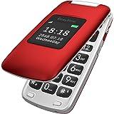 Easyfone Prime-A1 gsm Teléfono Móvil para Mayores con Tapa y Teclas Grandes, Audífonos Compatibles, SOS Botones, Cámara de 2.