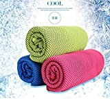 #4: FRIENDSKART New Magic Coolcore Ice Cold Cool Towel Reuseable Cycling Jogging Hiking Sports Golf Gym Exercise Ice Cold Towel Summer Cooling