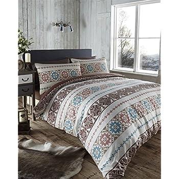 nordique scandinave ethnique housse de couette r versible. Black Bedroom Furniture Sets. Home Design Ideas