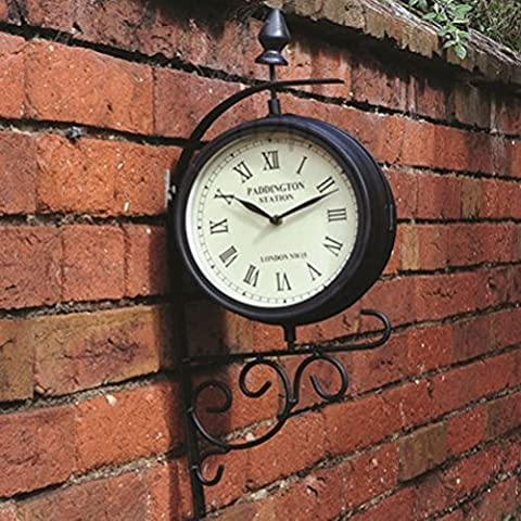 Victorian Station Style Garden Clock by Fun Daisy Home Series