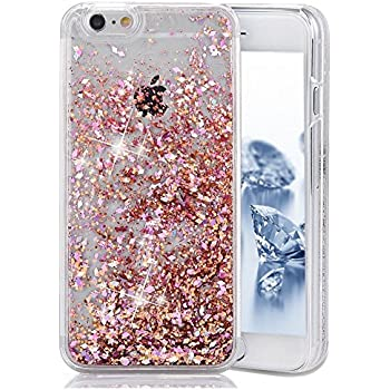 SainCat Coque Apple iPhone 5s,Design 3D Transparent Liquide Paillette Brillante Coque Plastique
