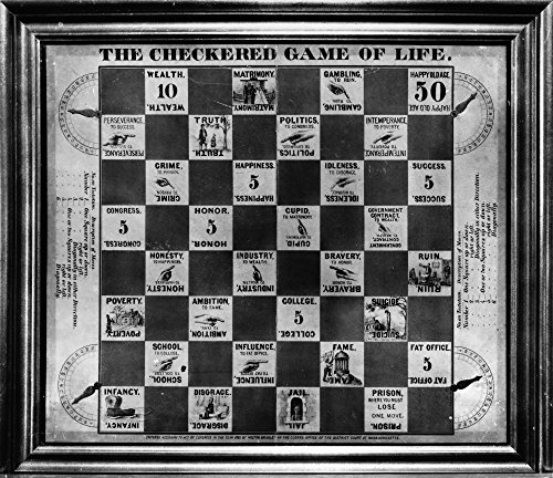 The Poster Corp Board Game: Life 1863. /Nthe Checkered Game of Life A Milton Bradley Board Game from 1863. Kunstdruck (45,72 x 60,96 cm)