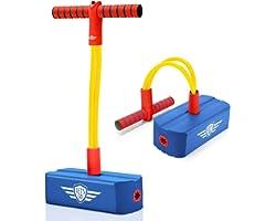 Letsgozzc Pogo Stick per Bambini, Saltarello All'aperto Idea Giocattoli Regalo - Peso Massimo 100 kg