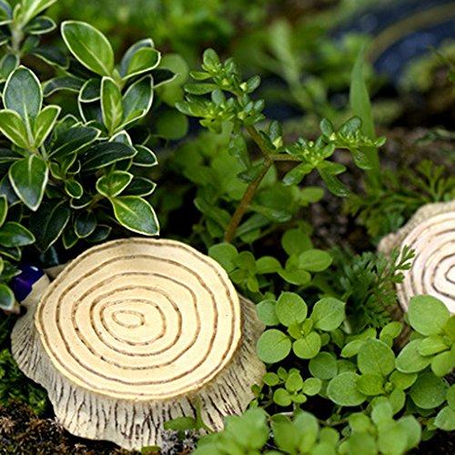Resina In Miniatura Filo Burlywood Sgabello Di Legno Micro Paesaggio Mestiere L