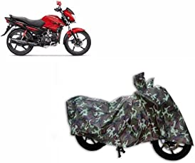 MotRoX Jungle Print Two Wheeler Cover for Hero Glamour FI (Water Resistant)