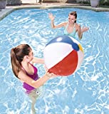 Bestway Inflatable Panel Beach Ball, Ideal for Beach/Pool Use, Multiple Sizes