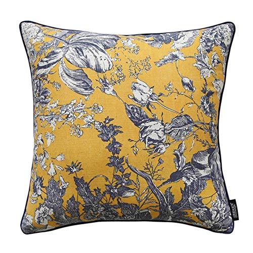 Jffffwi stile classico [fiori di piante] cuscino in vita di cotone/cuscino/federe-b 50x30cm (20x12inch) versione b