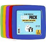 [Neu] Kühlakku im extra Dünnen Format für Lunchboxen – Schnell gefrierend und langanhaltende Kühlleistung – Tiefkühlakkus für