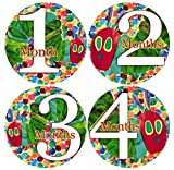 HUNGRY CATERPILLAR POLKA DOTS, Baby Month Onesie, Stickers Baby Shower Gift Photo Shower Stickers Baby Photo Onesie Milestone Stickers