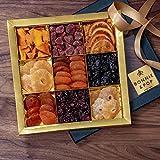 BONNIE AND POP Set regalo di frutta secca (cestini e cesti regalo per la simpatia, compleanno e ringraziamenti, ricevi un regalo aziendale e personale) 9 sezione 650g