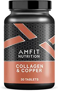 Marchio Amazon - Amfit Nutrition, Collagene & Rame, 30 compresse