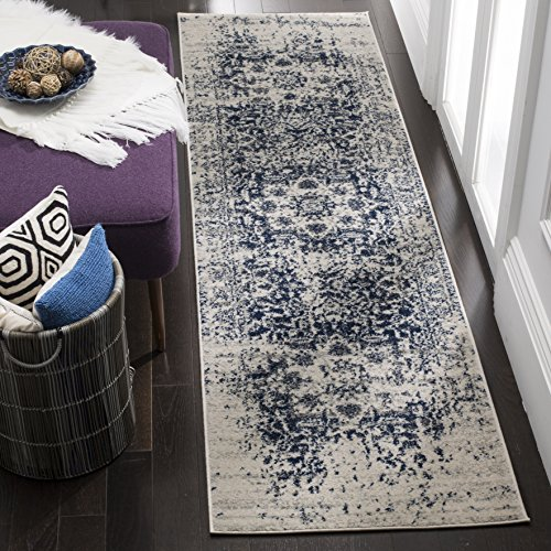 Safavieh Madison Collection mad603d creme und Marine Bereich Teppich, Polypropylen, Cremefarben / Navy, 2'3