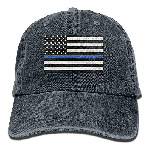 (Proud Clothing Infant Support The Police Thin Blue Line American Flag Cute Baby Onesie Bodysuit Snapback Cotton Cap)