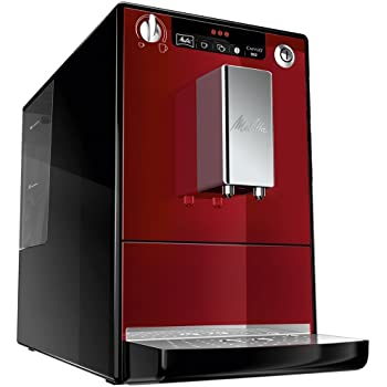 Melitta Caffeo Solo E950-104 Schlanker Kaffeevollautomat mit Vorbrühfunktion | 15 Bar | LED-Display | höhenverstellbarer Kaffeeauslauf | Herausnehmbare Brühgruppe | Rot