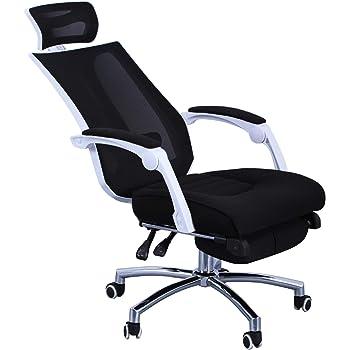 Bürostuhl Chefsessel mit Liegefunktion Ergonomisch Schwarz