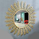 Furnish Craft Leaf Designed Wall Mirror(Size-31 X 31 Inch)