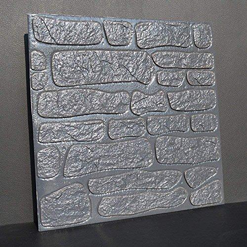 HAIZHEN 10 Stück 3D-Brick Wall Sticker, PE Schaum Selbstklebende Tapete Abnehmbar und Wasserdicht Art Wall Tiles für Schlafzimmer Wohnzimmer Hintergrund TV-Dekor, Grau