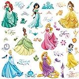 Roommates 21990 - Disney Prinzessinnen Wandtattoos/Sticker mit Glitzer - Best Reviews Guide