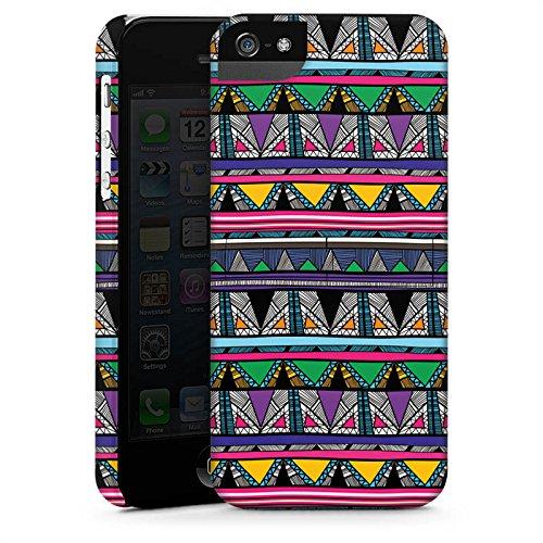 Apple iPhone X Silikon Hülle Case Schutzhülle Ethnostyle 80er Azteken Muster Premium Case StandUp