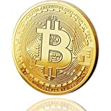 Physical Bitcoin Coin Gold Plated covered with 24 Carat Gold + FREE E-Book against Cyber-Attacks